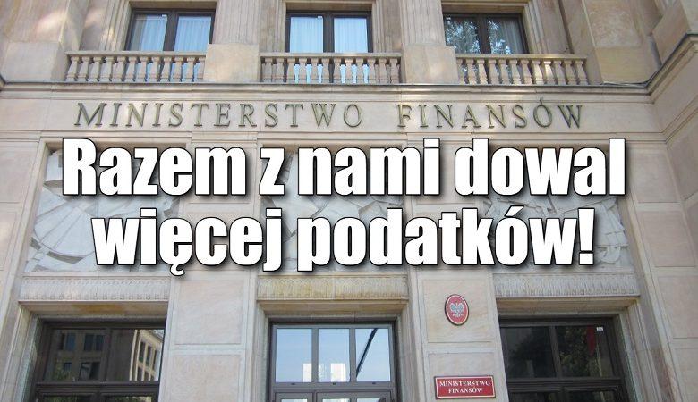plotkibiznesowe.pl: Ministerstwo Finansów oferuje pracę! Potrzeba eksperta do wymyślania nowych podatków