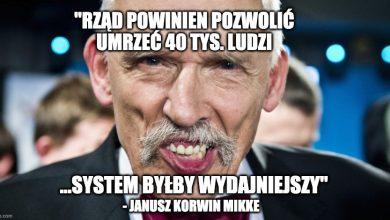 """Photo of Korwin-Mikke chciałby """"POZWOLIĆ UMRZEĆ"""" 40 tysiącom ludzi """"dla wydajniejszego systemu"""""""