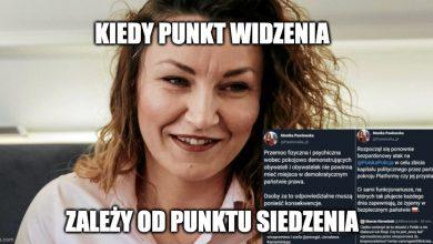 Photo of Pawłowska robi fikołka i broni policjantów z Głogowa. W grudniu ich krytykowała