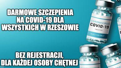 Photo of W Rzeszowie szczepią wszystkich na COVID-19 bez względu na wiek i bez rejestracji!