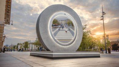 """Photo of W Lublinie stanął """"portal"""" do Wilna. Nie da się teleportować, ale i tak fajny"""